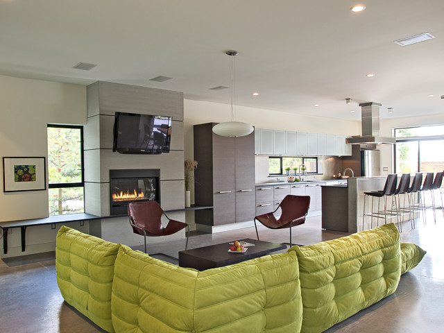 modern living room by PLACE, hl johnston architect ltd