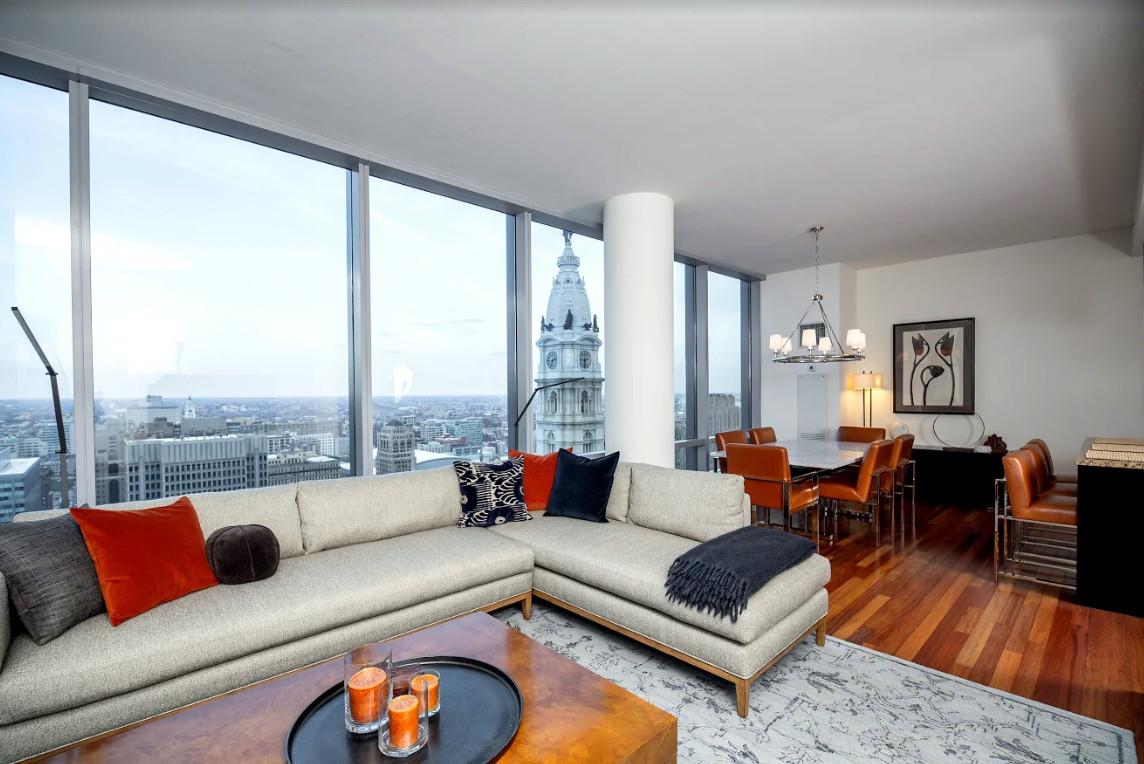 Phila Ritz Carlton Residences - Living Room & Dining Room
