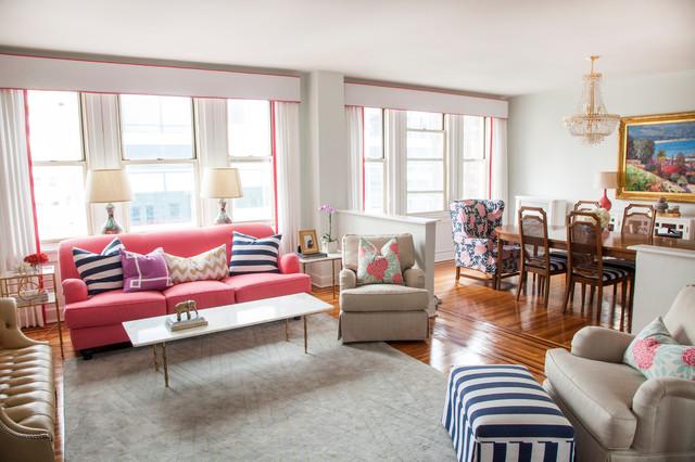 Glam chic apartment : Philadelphia Penthouse eclectic living room philadelphia