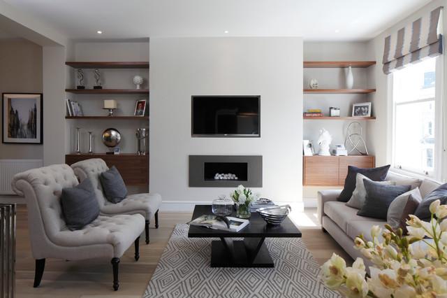 Philbeach Gardens contemporary-living-room