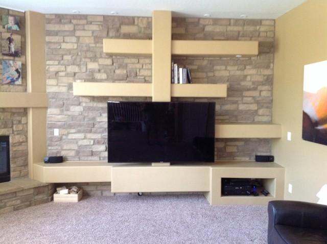 Phoenix Custom Media Walls Amp Niches Traditional Living