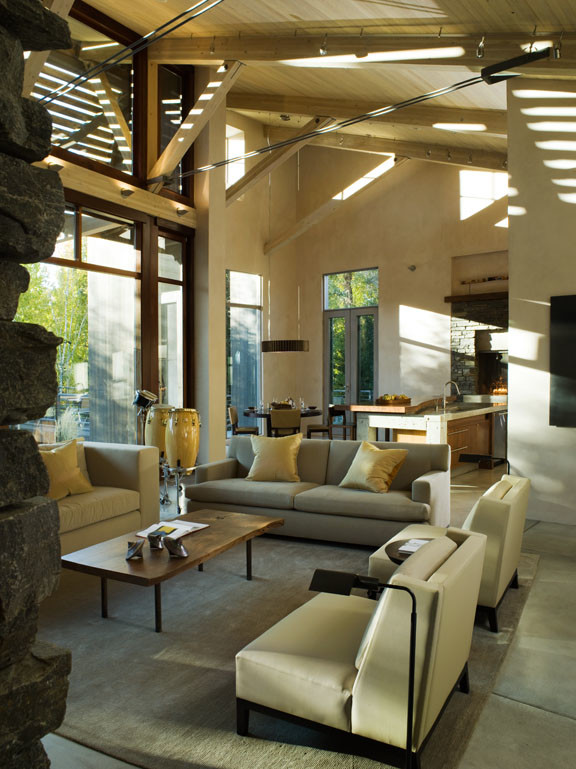 Inspiration for a contemporary living room remodel in Boise