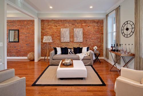 exposed brick wall design