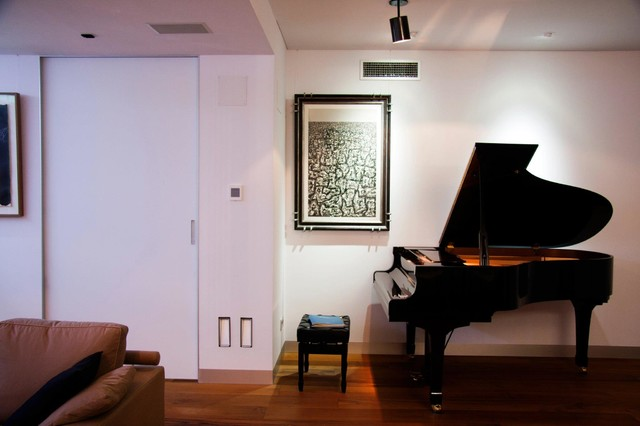 Piano area in living room - Modern - Living Room - other ...