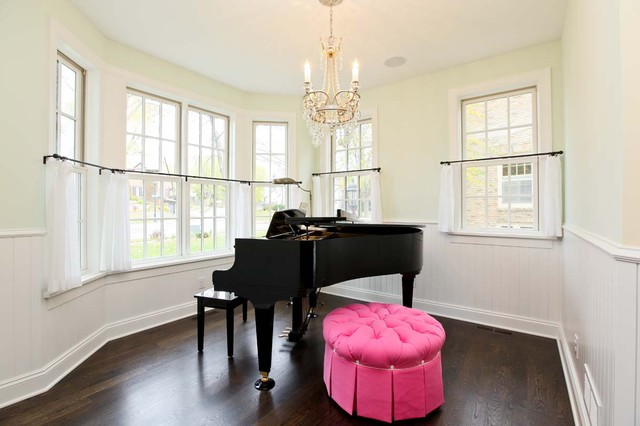 Piano Room traditional living room