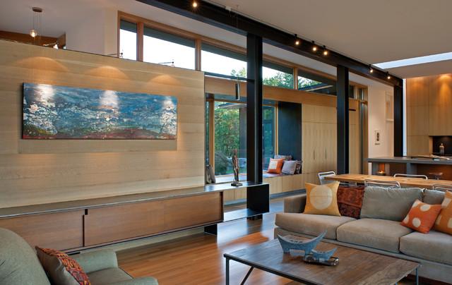 Piedmont Residence modern-living-room