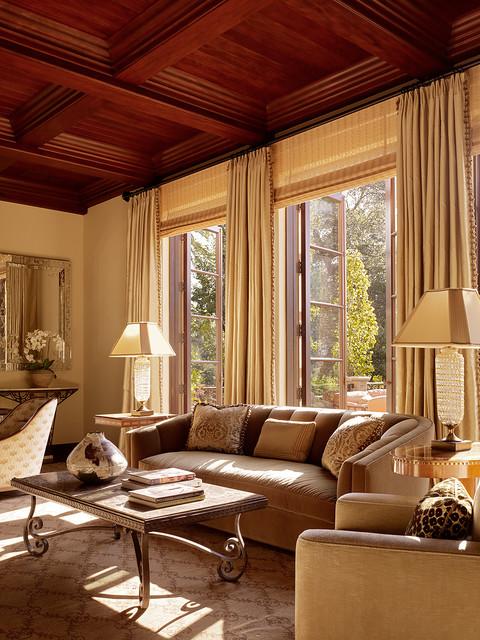 traditional living room  Charlie Barnett