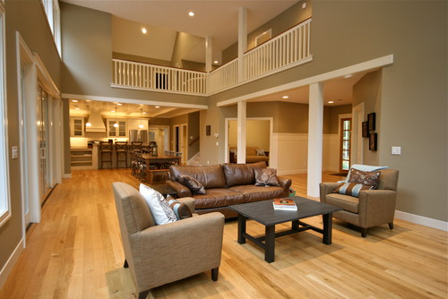 Love The Wall Color Paired With The Light Oak Floors Do