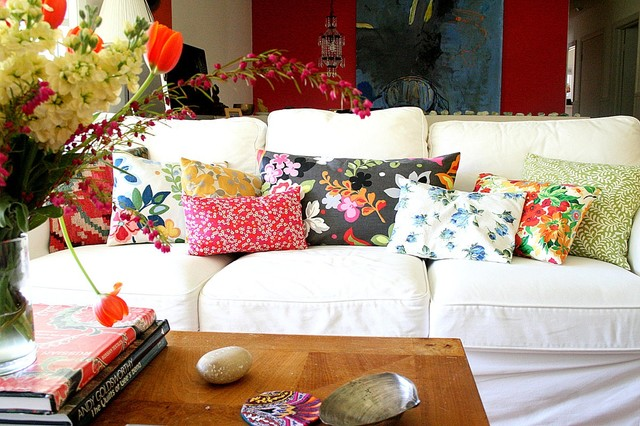 pillows eclectic living room