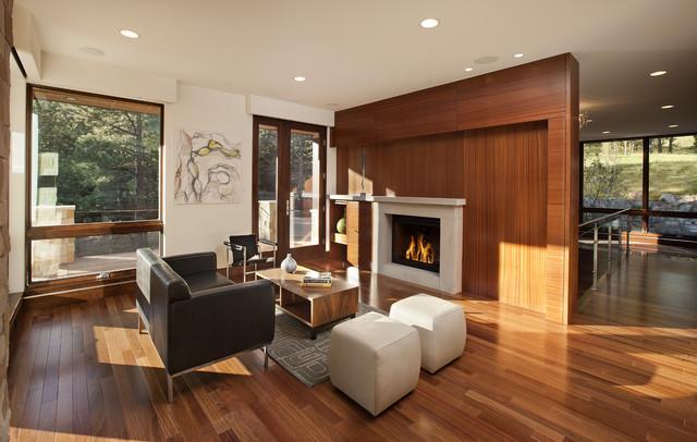 Pine Brook Boulder Mountain Residence Living Room - Modern - Living Room - denver - by Mosaic ...
