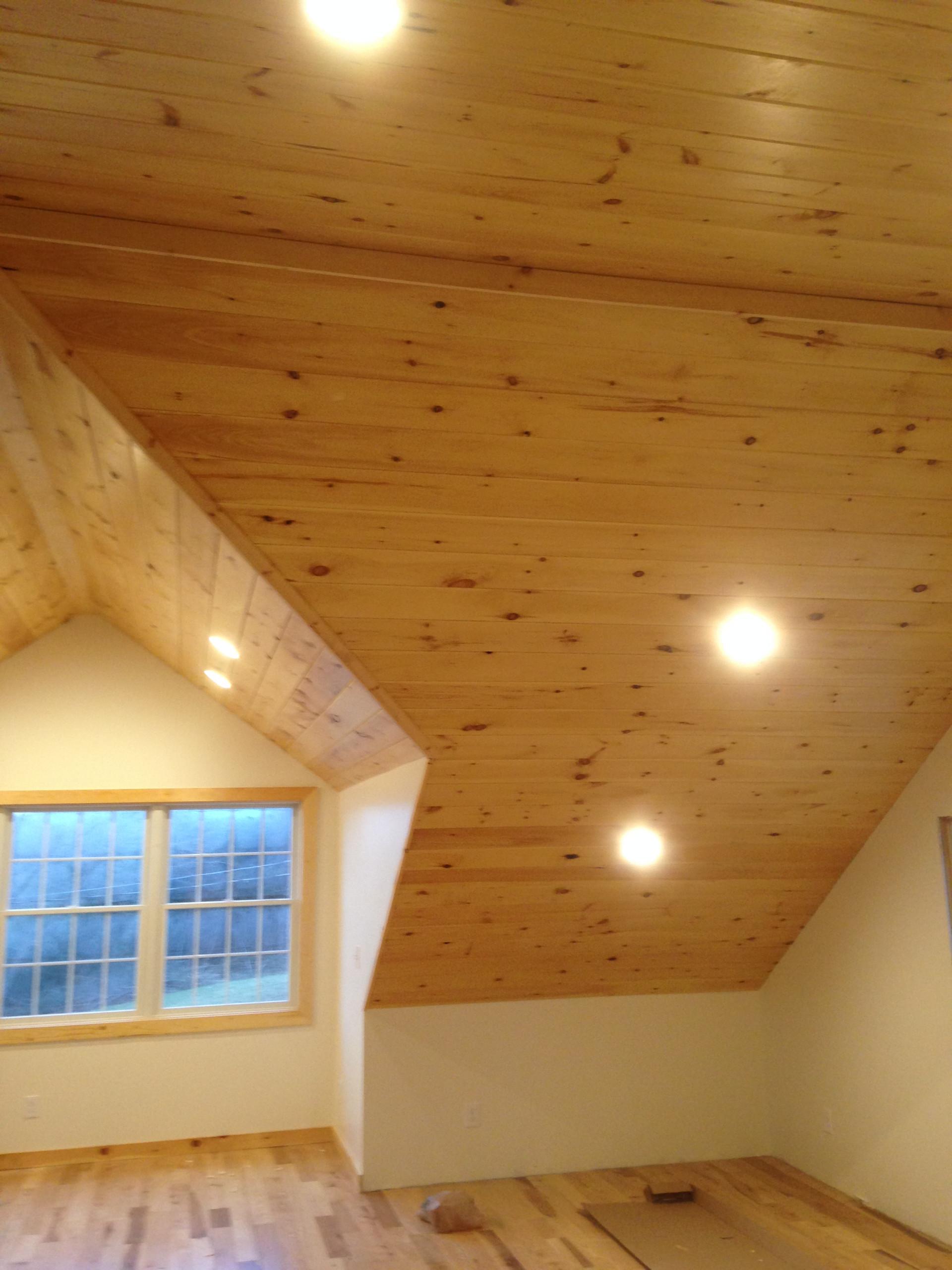 Pine ceiling