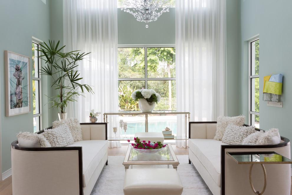 Living room - transitional living room idea in Miami