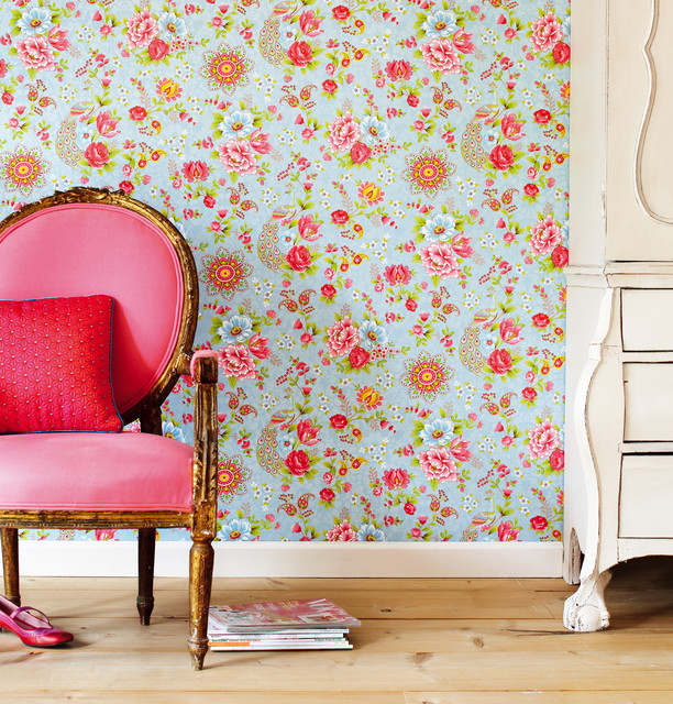 Pip designer wallpaper by Eijffinger Eclectic Living Room