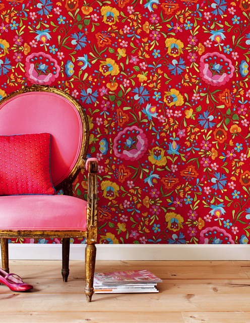 Pip designer wallpaper by Eijffinger - Eclectic - Living Room ...