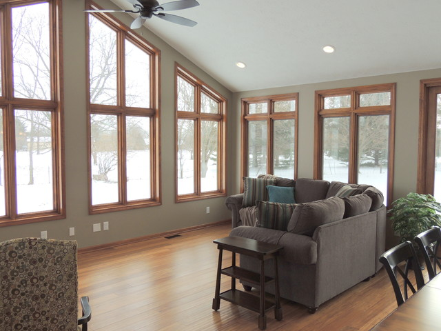 Plainfield Home Addition traditional-living-room