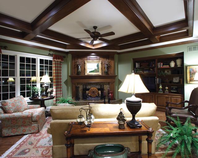 Plan #065S-0032 craftsman-living-room