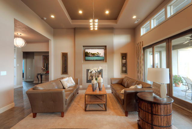 Plan 1245 contemporary-living-room