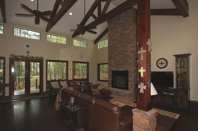 Plan 140-149: Modern Ranch contemporary-living-room