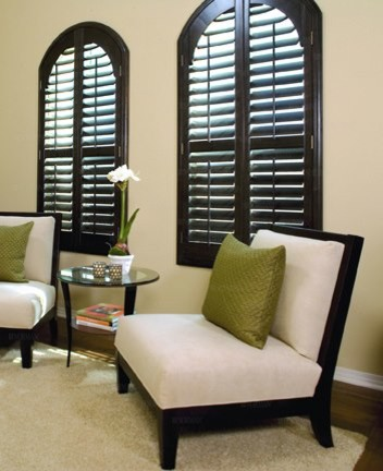 Plantation Shutters (arched windows) - Contemporary ...