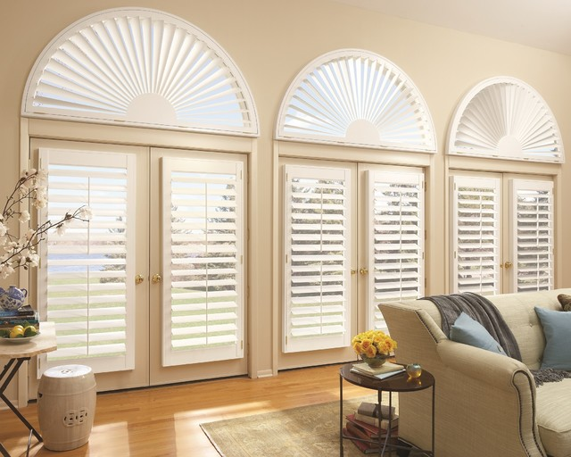 Plantation Shutters traditional living room