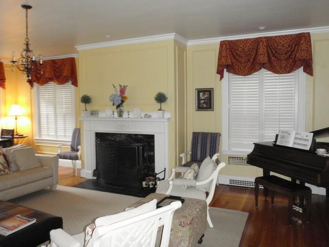 Plantation Shutters traditional-living-room