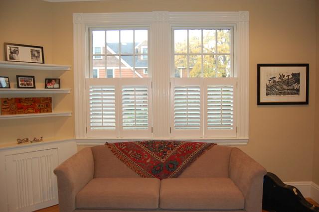 Good Plantation Shutters Traditional Living Room