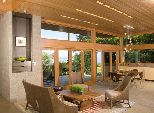 contemporary living room by Coates Design Architects Seattle
