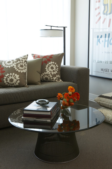 Plaza Towers Condo Renovation modern-living-room