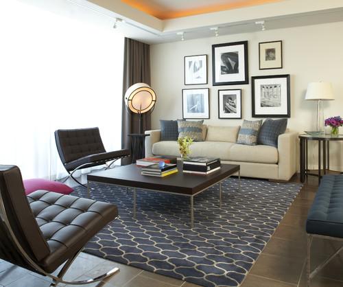 Modern Living Room by Atlanta Interior Designers & Decorators Niki Papadopoulos
