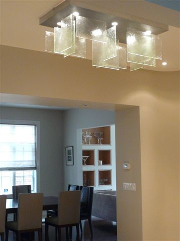 modern glass panels chandelier modern living room