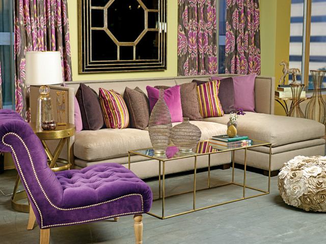 High Fashion Home Fair Plum Dandy  Gramercy Sectional  Eclectic  Living Room  Houston 2017
