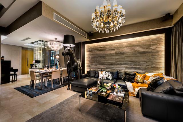 Poets Villas Contemporary Living Room