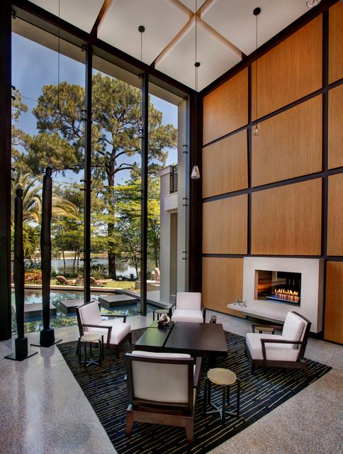 Poinsettia contemporary-living-room