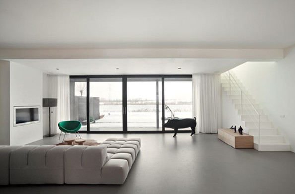 Polished Concrete Floors And Poured Resin Flooring London Uk Contemporary Living Room