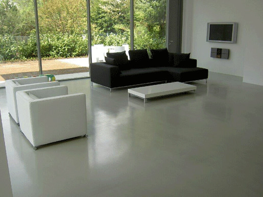 Polished Concrete Floors And Poured Resin Flooring London Ukcontemporary Living Room