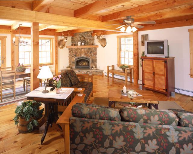 Pondside Colonial traditional-living-room
