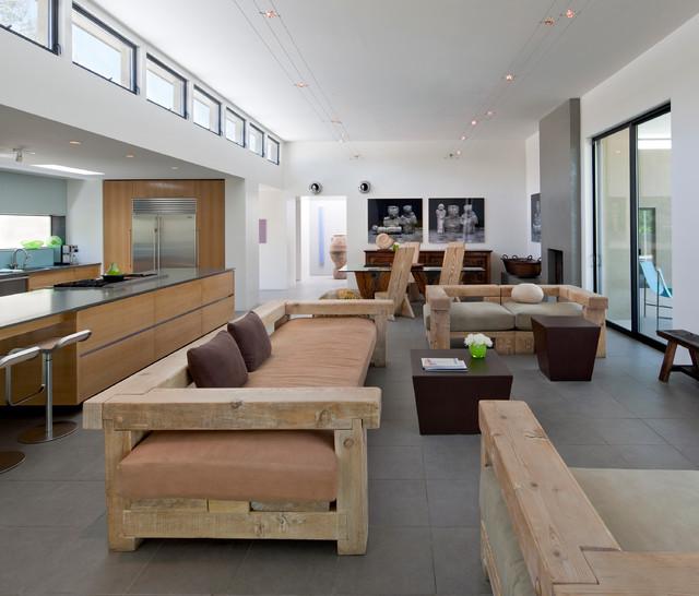 Contemporary Living Room Design Houzz: Pontatoc Residence Remodel