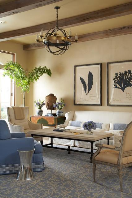 Ponte Vedra Beach Residence tropical-living-room