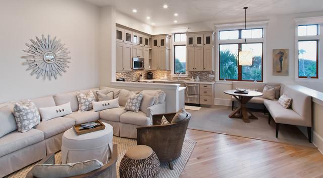 Ponte vedra residence beach style living room for Beach chic living room ideas