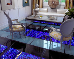 Pool House & Wine Cellar contemporary-living-room