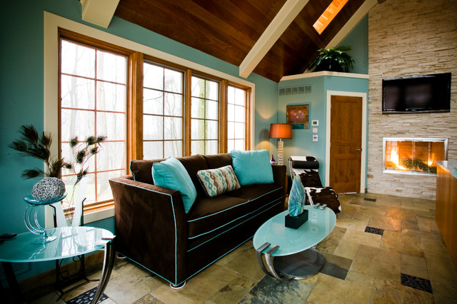 Pool House Lounge Pittsburgh Contemporary Living Room