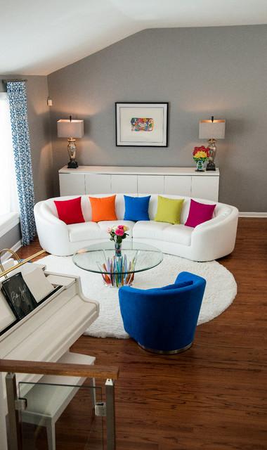 Pop art inspired cherry hill nj home contemporary for Modern living room furniture nj