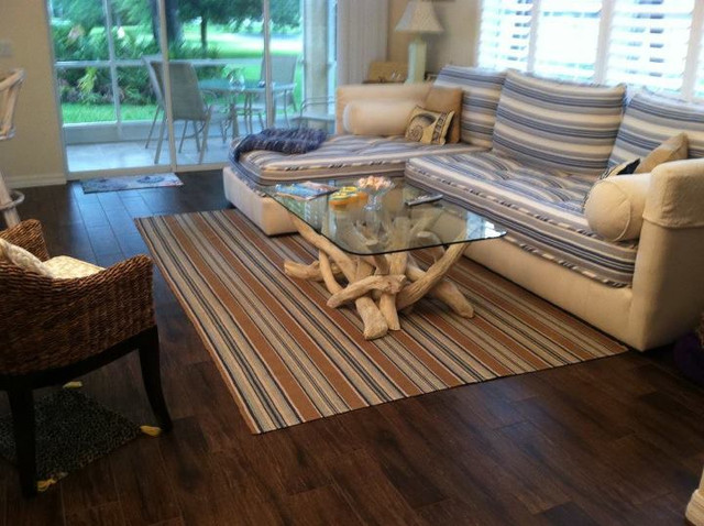 porcelain plank wood look tile installations tampa florida contemporary living room - Wood Tile Floor Living Room