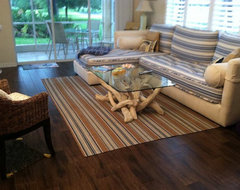 Porcelain plank wood look tile installations Tampa, Florida contemporary-living-room