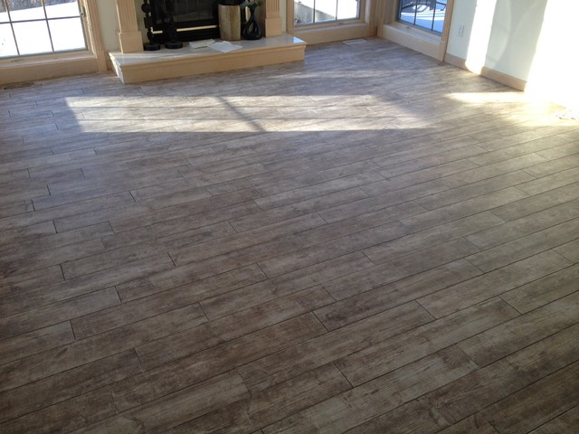 Porcelain Wood Plank Tile 6 X 36 Contemporary Living Room By