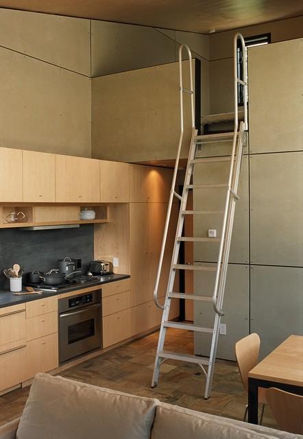 Port Hadlock Cabin modern-living-room