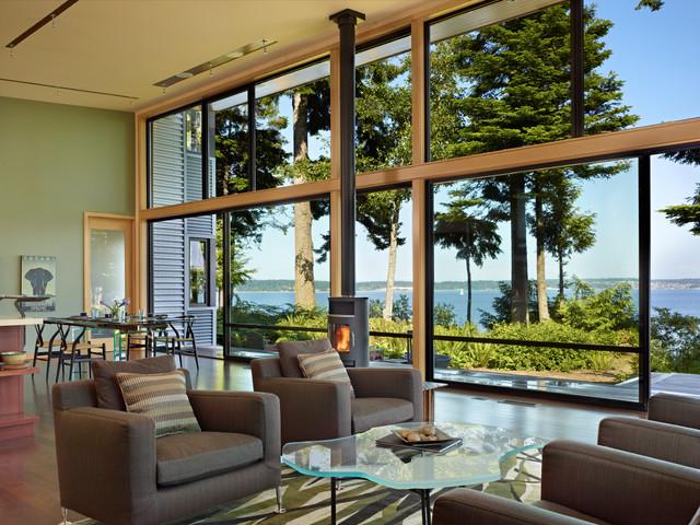 Port Ludlow House modern-living-room