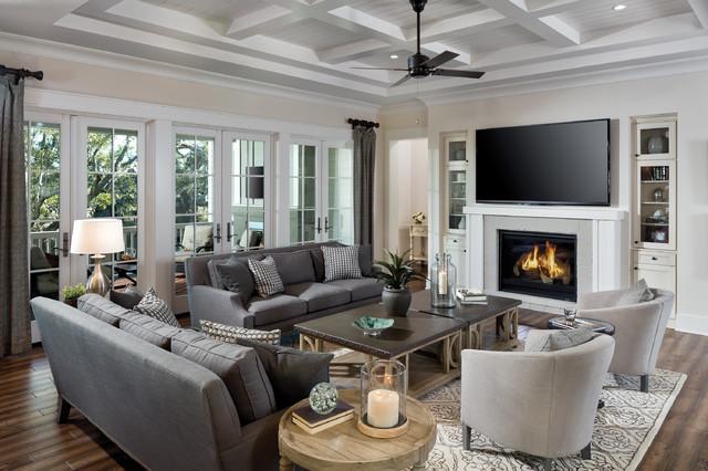 Vardagsrum vardagsrum klassiskt : Port Royal 1277 Model Home - Klassisk - Vardagsrum - Tampa - av ...