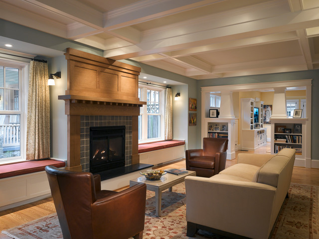 Porter Street Living Room Craftsman Living Room Dc Metro By Moore Architects Pc