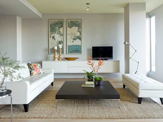 Portland Apartment - Modern - Living Room - Portland - by Jessica ...